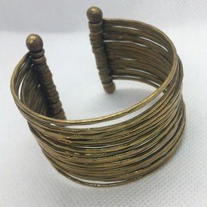 4 for $12: Gold Tone Cuff Bracelet